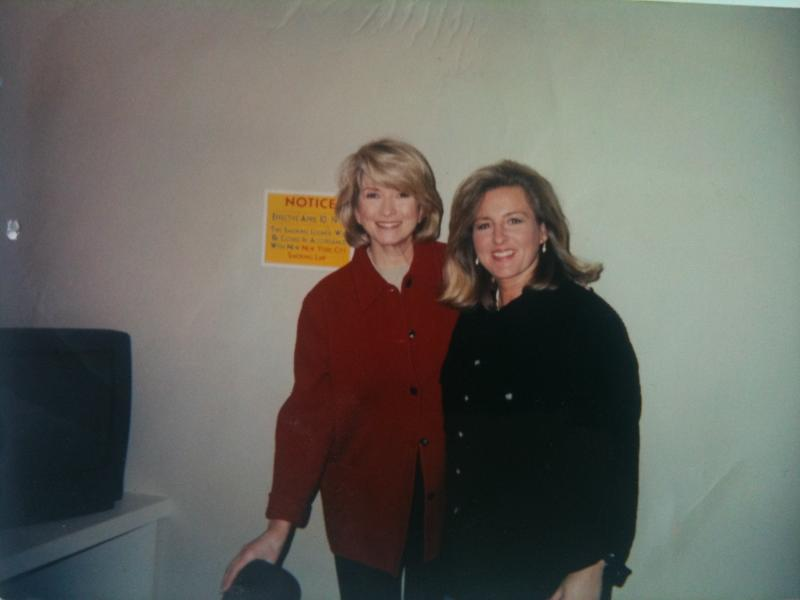 Me with Martha Stewart after playing on the Today Show